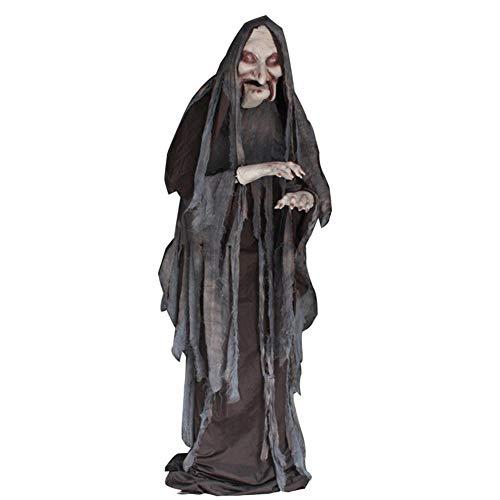 MTSBW Halloween Lift Witch Tricky Scary Props Control De Voz Femenino Haunted House Bar Lugar Fiesta Atmósfera Decoración