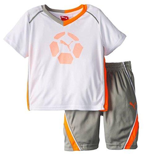PUMA Infant Soccer Team Perf Set - Jersey Shirt & Shorts (12 Months, White)