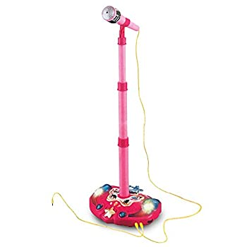 LilPals Princess Karaoke -Children s Toy Stand Up Microphone Play Set w/ Built-in MP3 Player Speaker Adjustable Height  Pink