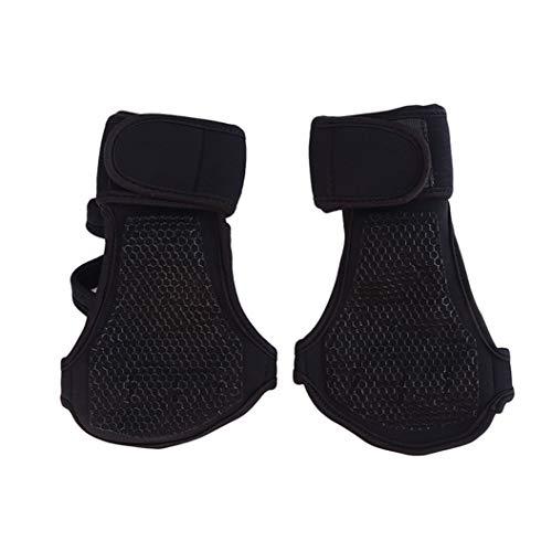 LPOQW Guantes de levantamiento de pesas con protección de la muñeca, protectores de palma para dedos para gimnasio, ejercicio, equipo de entrenamiento, color negro XL