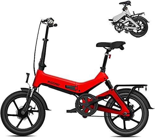 Bicicleta electrica Bicicletas, Bicicletas eléctricas para adultos, 16 'Bicicleta de litrafía liviana de 16', 250W 36V 7.8AH Batería de litio extraíble, Bicicleta de la ciudad Velocidad máxima 25km /