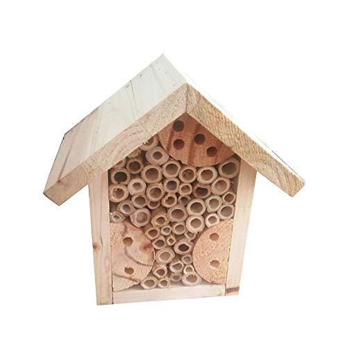 SUIBIAN Casa de Abeja y de Insectos Hotel, Madera Natural Insectos beneficiosos,...