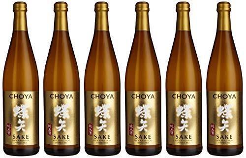 Choya Sake japanischer Reiswein (Alkoholhaltiges Getränk, Junmai Sake, aromatisch, 14,5% vol.) 6er Pack (6 x 0,75l)