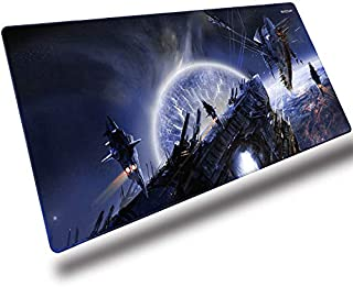 EXCOVIP Gaming Mouse Pad XXL, Wrapped Mouse Pad Anti-Slip Rubber (900 * 400mm) For Computers, PC and Laptops,Planets War Mat