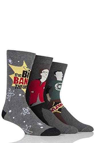 Mens 3 paires Big Bang Theory Socks Assorted 6-11 Mens