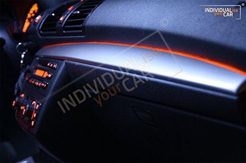 EL Ambiente Lichtleiste Ambientebeleuchtung für 1er E81 E82 E87 E88 - Armaturenbrett (Amber)