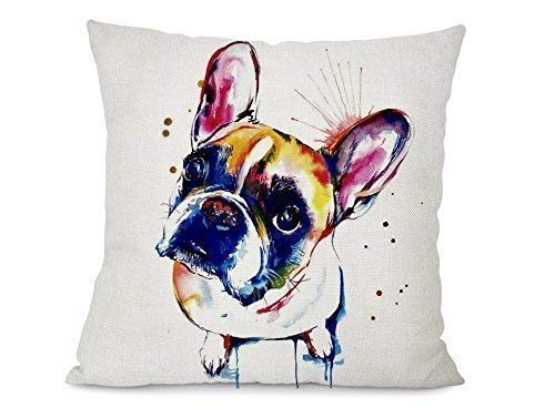 Altitude Boutique Dog Art Pillow Cover (French Bulldog Brown), Decorative Pillow Cases