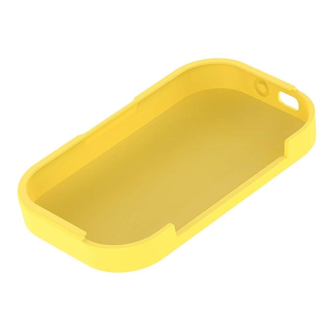 有料引き金お尻gazechimp シリコン 保護カバー Voyagerイヤホン用 充電ボックス コンパクト 軽量 - 黄, 110.4x64.8x19.3mm