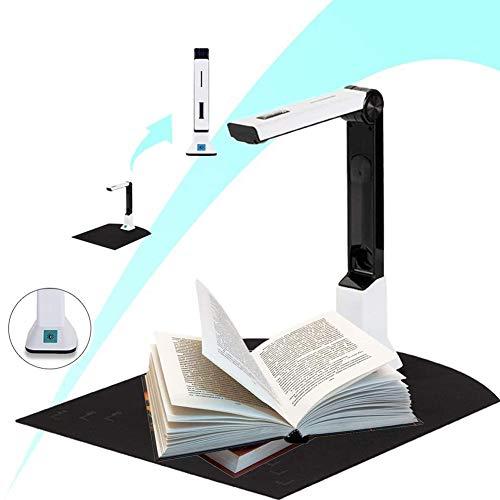 ACEWD Dokumentenkamera Für Lehrer 8MP, Tragbarer High-Definition-Scanner, Mit Echtzeit-Projektions-Videoaufzeichnungsfunktion, A4-Format, Für Büro-Klassenzimmer, Soft Bottom