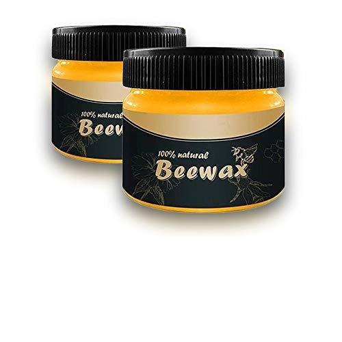 Marina Barre Möbelwachs Bienenwachs,100% Natürlichen Wood Seasoning Beeswax Poliermittel Wasserdicht Verschleißfest Glanz steigern Geeignet für Böden, Schränke, Türen und Fenster, Tische und Stühle