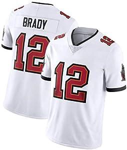FGRGH Brady Men Rugby Jersey Jerseys, Camisa de los Hombres, Buccaneers # 12 Jerseys de fútbol Americano, Deportes Sudadera Interior de Manga Corta y al Aire Libre L