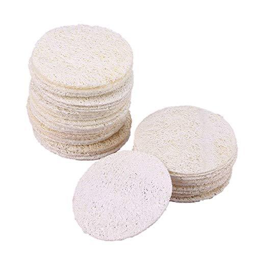 55 almohadillas exfoliantes de esponja de lufa natural para eliminar el maquillaje facial y el cuerpo
