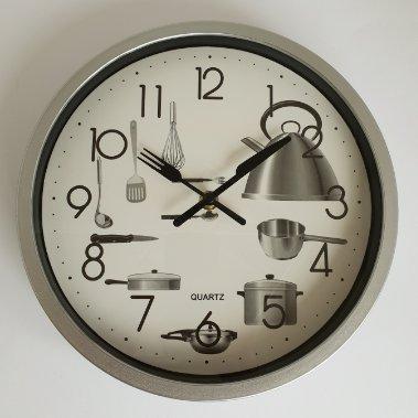 Horloge murale à Quartz pour Cuisine, 25 cm