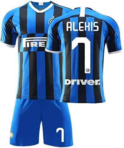 NNY 19-20 Internazionale Milano Heimfan Fußballtrikot Alexis Sanchez 7# Fußballtrikots Sportmannschaft Trainingsuniform für Männer-Blau_5 Jahre