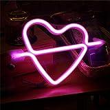 Watopi - Luces decorativas de neón románticas con luces LED de neón para decoración de pared para niñas, recámara, casa, bar, pub, fiesta