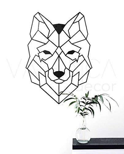 Lobo Cuadro Decorativo de Madera para Pared