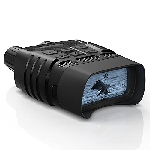 Night Vision Binoculars - Digital Infrared Goggles Night Vision for Complete Darkness, 984ft IR Hunting Binocular Night Vision Camera for Shooting Adventure, with 32G Memory Card