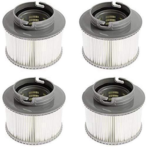 Ersatz-Filterkartuschen für MSpa Bubble Spa Whirlpools (verbesserte Version 2020 für alle MSpa Modelle) (4 Stück)