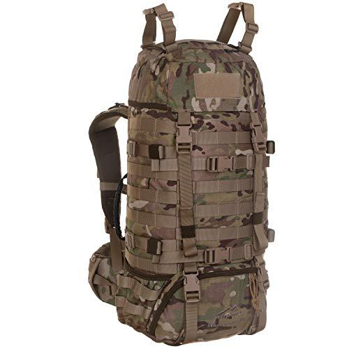Wisport Armee Rucksack Damen Herren + inkl. E-Book | Militär | Army Backpack groß | taktischer Kampfrucksack für Frauen Männer | Einsatz | Cordura | Camo | Raccoon 45 Liter, US Multicam