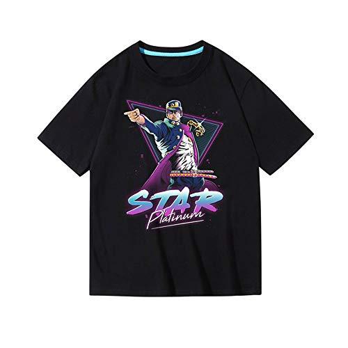 ACBANANA Summer Short-Sleeved T-Shirt Jojos Bizarre Adventure Kujo Jotaro Printing Personalized T-Shirt Men's Casual Round Neck T-Shirt