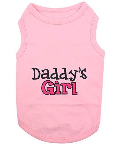 Parisian Pet Dog Cat Clothes Tee Shirts Daddy's Girl T-Shirt, XL