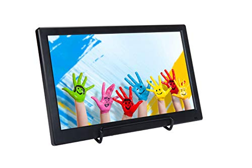 LONCEVON-12 inch IPS 1920x1080P Portable Small HDMI Monitor with VGA-AV-USB-BNC Port ; External Small HDMI Screen LCD Display Monitor for Laptop Raspberry PI/TV ; Build in Dual Speakers, Remote.