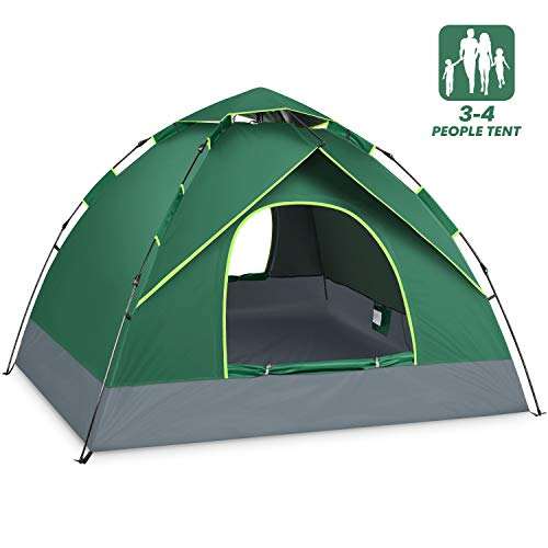 4 Person Tent for Family Camping Instant Pop Up Tents