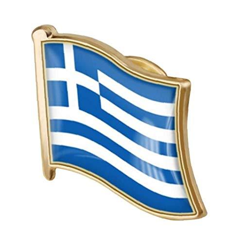 Ruluti 1pc Bandera Griega Pin del Esmalte del Metal Pin De La Solapa De La Bandera Griega Broche De La Insignia Nacional De La Novedad De Accesorios