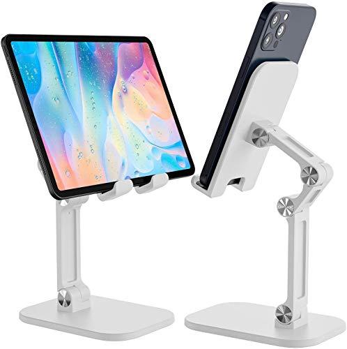 Soporte para tableta, varios ángulos y altura ajustable, para teléfono móvil, compatible con 4 a 12,9 pulgadas