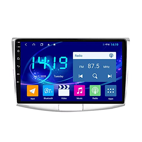 Gndy Coche navegación System 9' Android 9.1 Car GPS Navegación Reproductor de para Volkswagen Passat 7 2010-2015 | Pantalla LCD Táctil | USB | WLAN