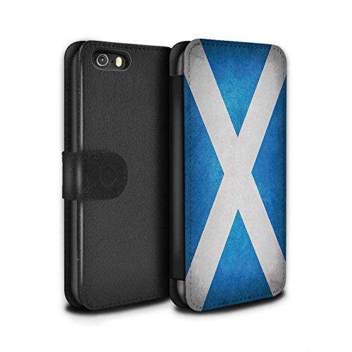 STUFF4 PU Pelle Custodia/Cover/Caso/Portafoglio per Apple iPhone 5/5S / Scozia/scozzese / Bandiere disegno