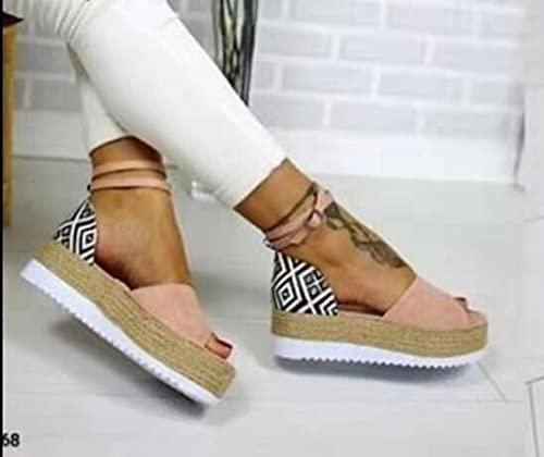 DZQQ Verano Nuevas Sandalias de Mujer Sandalias de Plataforma Zapatos de cuña Zapatos de tacón de MujerSandalias
