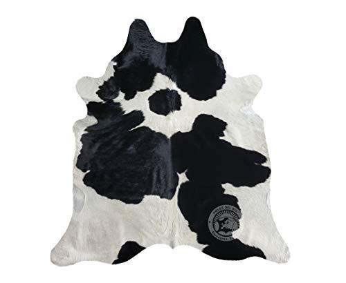 Sunshine Cowhides Alfombra de Piel de Vaca Blanco y Negro 220 x...