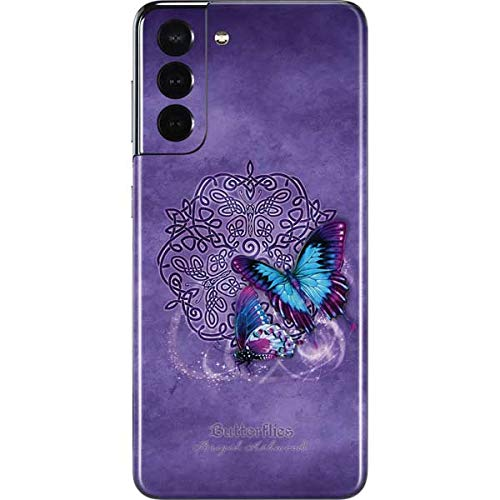 Skinit Decal Phone Skin Compatible with Samsung Galaxy S21 5G - Tate and Co. Butterfly Celtic Knot Design