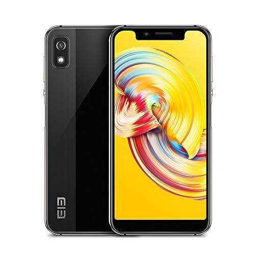 "4G Smartphone Téléphone Portable - Reconnaissance Faciale, Android 8.1, Écran de 5,58"", Empreintes Digitales, 3Go Ram 16Go Rom, 5MP+8MP CaméraS, Dual SIM, OTG/GPS/Bluetooth,WiFi - Elephone A4 Noir"