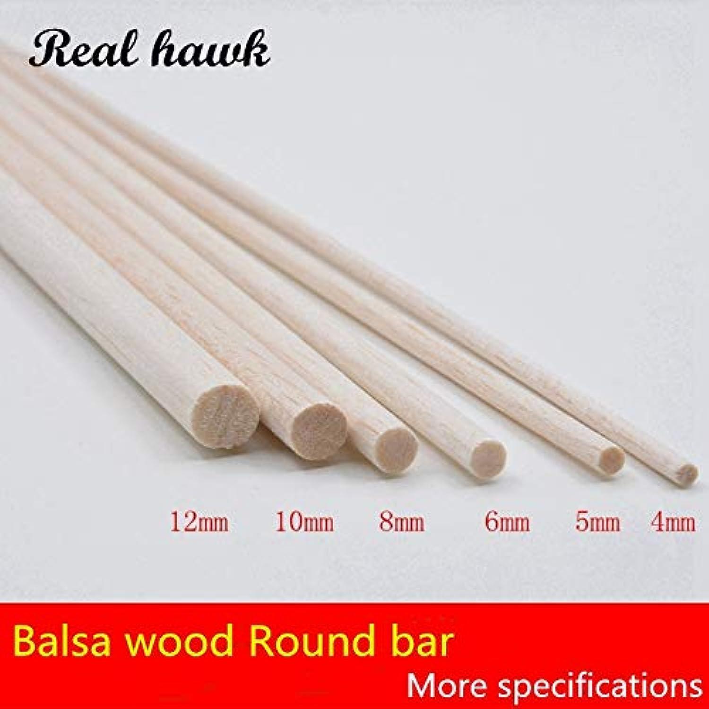 Laliva 300mm Long Diameter of D4 D5 D6 D8 D10 D12 D15mm AAA+ Balsa Wood Roud Dowels Sticks for Airplane Boat Model DIY - (color  D10mm 10pcs)