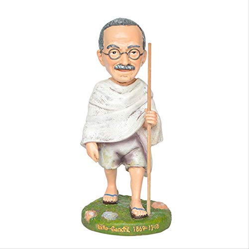 ZWWZ Cultura de Resina Celebridad Mundial India Mahatma.Gandhi Collection Memorial Home Muebles Decoración de Estudio MISU