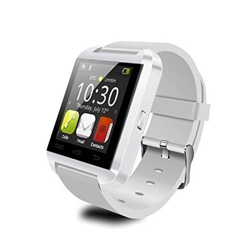 Yuntab U8 1,48-Zoll Touch Screen Bluetooth Smart Handgelenk Watch U Watch Phone Mate für iOS Android Smartphones iPhone 6/5 s / 5C/5/4 s/4 Samsung Galaxy Note 4/Note 3/Note 2/S5/S4/S3 HTC Sony Blackberry und mehr (Weiß)
