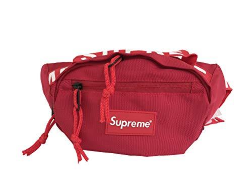 supremes Riñonera riñonera Bag para Senderismo Casual Bicicleta Mochila cinturón Ajustable Individual Hombro (Rojo)
