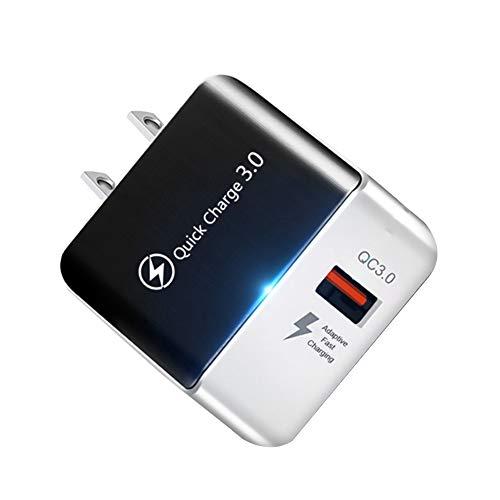 Gcroet Fast Adaptador De Carga Qc3.0 USB De Carga Rápida Cargador del Enchufe Tecnología De Alimentación Universal Multi para El Teléfono Negro De EE.UU.
