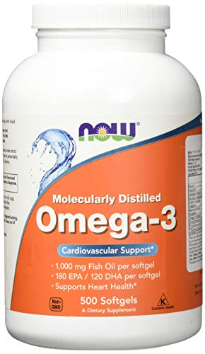 Now Foods Omega-3, Molecularly Distilled 500 softgels