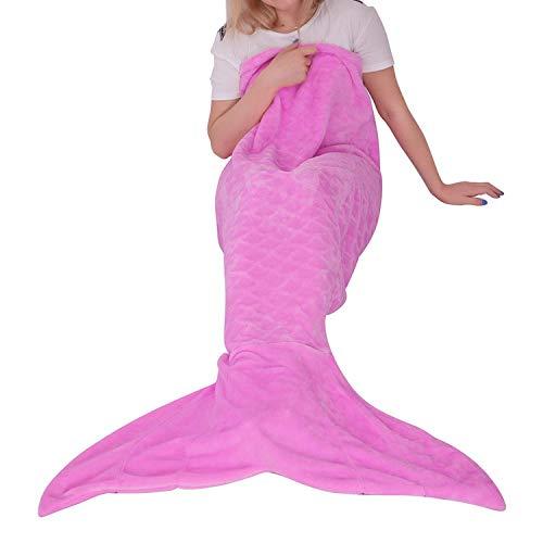 softan Manta de Cola de Sirena para Adultos, Tela de Franela Suave, Saco de Dormir para Todas Las Temporadas,63x152cm,Púrpura