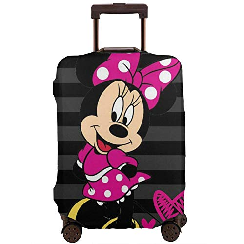 Travel Luggage Cover Cute Minnie Mouse Luggage Protector Suitcase Cover Fits 18-32 Inch Luggage-S