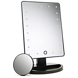 Beauty Shopping Absolutely Luvly Natural Daylight Lighted Makeup Mirror/Vanity Mirror with Touch Screen Dimming,Detachable 10X…