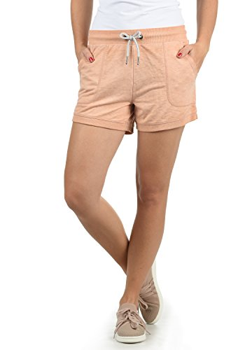 DESIRES Bente Damen Sweatshorts Bermuda Shorts Kurze Hose Mit Melierung Und Kordel Regular Fit, Größe:M, Farbe:Ma. Rose M (4203M)