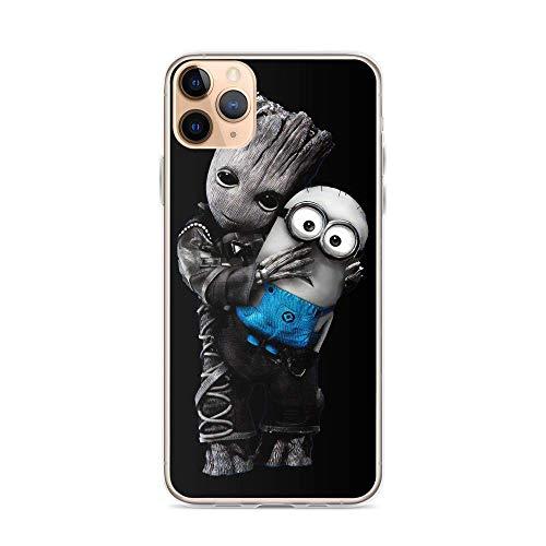Gladiour Compatible con iPhone 11 12 Pro Max XR 6/7/SE 2020 Funda Baby Groot Hugs Minions Pure Clear Funda protectora a prueba de golpes