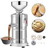 VBENLEM Commercial Peanut Butter Maker 15 Kg/h Electric Peanut Butter Maker 2850 r/Min Stainless Steel Peanut Butter Maker Machine 1100w Sesame Sauce Grinder Machine