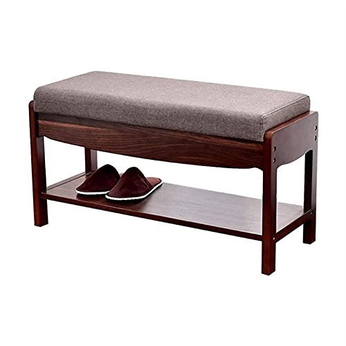 N/Z Home Equipment Hallway Bench Shoe Rack Taiwan Bamboo Shoes Foot Stool with Storage Drawer Entrance Hall Living Room Sofa Warehousing Goods Shoe Rack