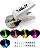 ToBeIT Flight Hole Punch Tool and 5 Sets Dart Flights and Dart shafts Rings