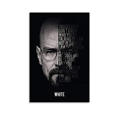 xiaoxian Heisenberg – Breaking Bad Poster décoratif sur toile pour salon, chambre à coucher 30 x 45 cm